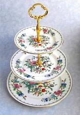Aynsley Pembroke 3 Tier China Cake Stand with new gold tone fittings