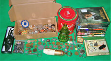 ESTATE JUNK DRAWER LOT *Knife JEWELRY DVD Military Pins COINS Buttons KNIVES
