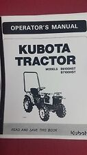 Kubota B6100, B7100,  Owners Manual & Electrical System sketch & parts info pdf