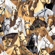 """2 yards of   """"Point of View"""" Packed Horses Southwestern  Fabric"""