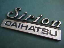 DAIHATSU SIRION -  GENUINE ORIGINAL BOOT BADGE.