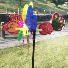 Garden Peacock Windmill Wind Spinner Whirligig Home Lawn Yard Decor Kids Toys