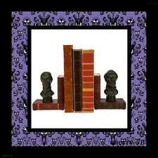 Disneyland Haunted Mansion Head Busts Statue Library Bookends Face Book Ends NIB