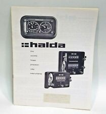 Halda Sales Brochure for Tripmaster, Twinmaster and Speedpilot