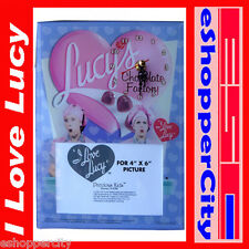 "I Love Lucy Glass Picture Frame For 4"" x 6"" Photo w/ Clock Table Top , New Desi"