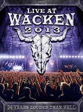 Live at Wacken 2013 Concert DVD, 2014, 3-Disc Set Alice Cooper, Anthrax & More!