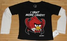 Angry Birds Halloween I Vant More Candy Long Sleeve T-Shirt Size 24 Months New