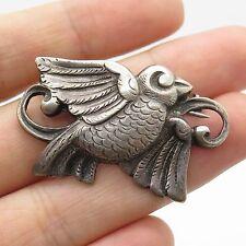 Vtg 925 Sterling Silver Handmade Bird Pin Brooch