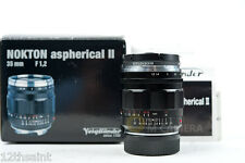 Voigtlander Nokton 35mm f/1.2 Aspherical SL II Lens For Leica /w Rodenstock UV