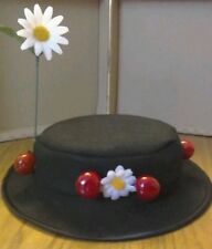 """LADIES Mary Poppins inspired 22 1/2"""" felt hat FAST POST OPTION LISTED"""