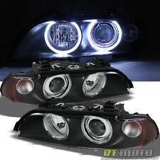 Black 1997-2003 BMW E39 5-Series 525i 528I 530i 540I Halo Projector Headlights