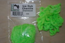 HARELINE DUBBIN FLY TYING CHENILLE ICE DUB CHENILLE CHARTREUSE