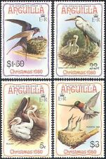 Anguilla 1980 Christmas/Heron/Pelican/Hummingbird/Birds/Nature 4v set (b1917)