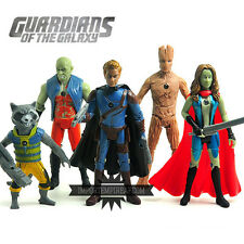 GUARDIANI DELLA GALASSIA SET 5 STATUETTE PERSONAGGI ACTION FIGURES groot rocket