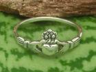 Kleiner Claddagh Echt Silber Ring irischer Hochzeitsring Irland Silberring