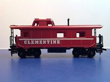 """HO Scale """"Clementine"""" Freight Train Caboose / Tyco Brand"""