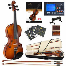 Cecilio 3/4 CVN-320L Left Handed Ebony Violin +Book/Video+Tuner+Case