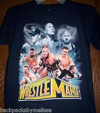 WWE WrestleMania s/s Boy's Shirt size 18/20 NeW John Cena The Rock Orton Sheamus