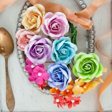 "NEW Prima ""NIKKO-NICHIO"" Colorful Roses and Flowers with Pearl Centers 582067"