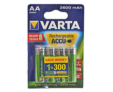 VARTA AA NiMH High Performance Rechargeable Batteries 2100mAh - 4 in Pack