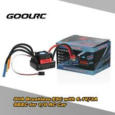 GoolRC S-80A Brushless ESC Speed Controller w/ 6.1V/3A SBEC for 1/8 RC Car M7X8