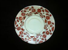 Hadson brand China Saucer, Occupied Japan red flower pattern with silver/gold