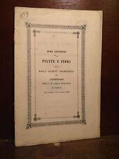 Orto Botanico Padova 1846 Prima Esposizione Piante e Fiori Giardinaggio Rarità