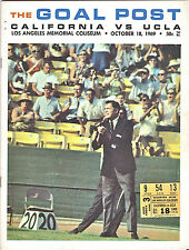 1969-UCLA  (FARMER-CURETON) v. CAL (HUMPHRIES)--F00TBALL PROGRAM + TICKET-NMT