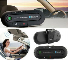 Wireless Multipoint Bluetooth Hands Free Car Kit Speakerphone Speaker Visor Clip