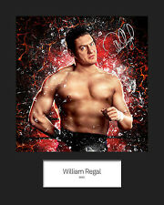 WILLIAM REGAL #1 (WWE) Signed (Reprint) 10x8 Mounted Photo Print - FREE DELIVERY