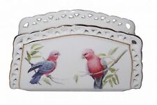 """Galah"" Bird Fine China Napkin Holder - Boxed - Australian Bird Series"