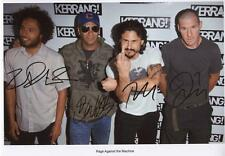 RAGE AGAINST THE MACHINE AUTOGRAPHED SIGNED A4 PP POSTER PHOTO
