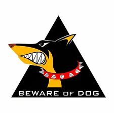Beware of the Dog Beware of Dogs Warning Sticker Decal Graphic Vinyl Label V4