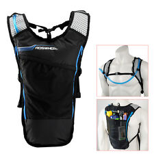 5L Bike Hydration Pack Backpack Rucksack + 2L Water Bag Bicycle Cycling Blue New