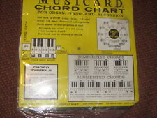 VINTAGE 1965 Piano Organ Accordian Keyboard Chart  NEW in plastic