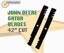 "2 x ""OREGON"" GATOR RIDE-ON MOWER BLADES FOR JOHN DEERE 42"" decks - OEM; GX22151"