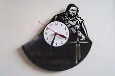 Stark  W i C design vinyl record wall clock, home decor art office shop pub move