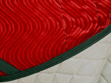 "PRETTY  ""RED VELVET WAVE SWALLOWTAIL""   DRESSAGE SADDLE PAD"