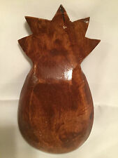 Wood Pineapple Dish Bowl