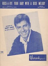Jerry Lewis Rock-A-Bye Your Baby With A Dixie Melody   US Sheet Music Blue Cover