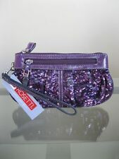 NWT ROSETTI Steppin' Out Sequin Wristlet Wallet - Purple FREE SHIPPING