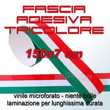 Fascia adesiva tricolore 150x7 cm - bubblefree lunga durata