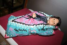 Navajo Papoose Porcelain Doll with COA and Box Danbury Mint Nancy Leslie
