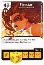 048 FIRESTAR M-Day Survivor -Common- THE AMAZING SPIDER-MAN Marvel Dice Masters