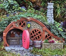 """FiddleHead Fairy Garden RED ROOT BUNGALOW Fairy House w/ Chimney, 7.5"""" Long"""