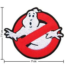 GHOSTBUSTERS No Ghost Busters Embroidery Stick Iron Sew On Patch Badge Applique
