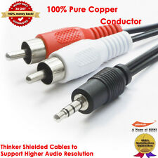 "1/8"" Stereo (3.5mm) Male Mini to 2-RCA Male Audio Y-Cable iPod Compatible,6-Feet"