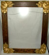 """Antique Gold Gesso on Walnut Wood Wall Picture Frame 25""""x21"""" holds 20""""x15"""""""