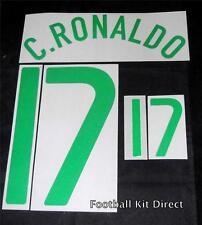 Officiel portugal ronaldo 17 euro 2008 football shirt nom / numéro l'écart