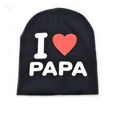 Infant Baby Kid Letter Print Knit Bonnet Hat Bow Knot Newborn Elastic Beanie Cap